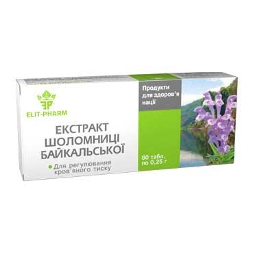 Šišák bajkalský kořen - Extrakt Elit Pharm 80 tablet